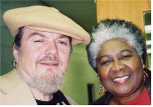Dorothy greets legend Dr. John after catching a South Mississippi performance.