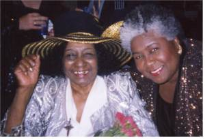 Dorothy and Jessie Mae Hemphill steppin' out at the W.C. Handy Blues Awards, May 2005.