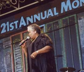 Dorothy on stage at 21st Annual Monterey Bay Blues Festival